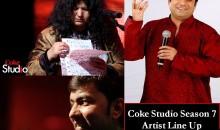 Coke Studio Season 7 Official Artist Lineup