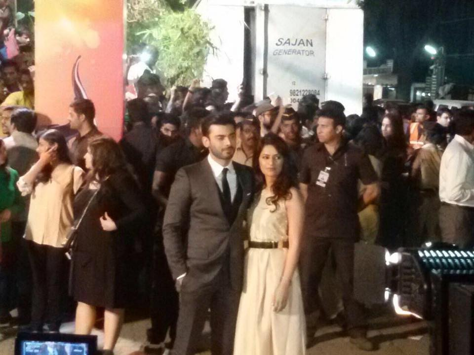 #FawadKhan with his wife at #FilmFare #India #RedCarpet #BritanniaFilmfareAwards