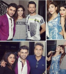 Farhan Saeed Celebrates Hum Award with Friends
